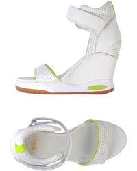 Ash White Sandals - Lyst