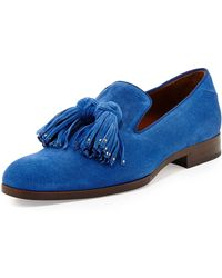 Jimmy Choo Foxley Mens Tassel Suede Loafer - Lyst