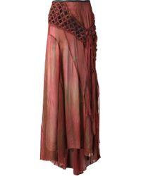 Alessandra Marchi - Long Crochet Pleated Skirt - Lyst