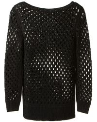 The Row Openwork Sweater - Lyst