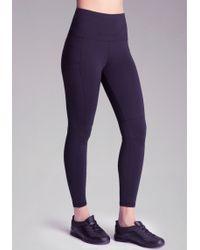 Bebe High-Waist Workout Leggings - Lyst