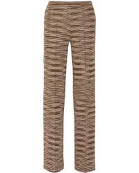 M Missoni Knitted Straight-leg Pants - Lyst