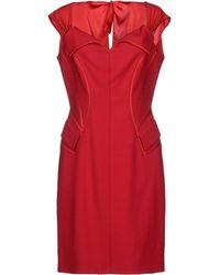 Zac Posen Short Dress - Lyst