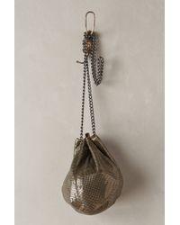 Whiting & Davis Brass Mesh Bucket Bag - Lyst