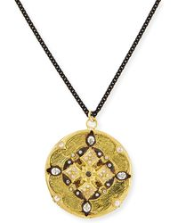 Armenta - Diamond Shield Pendant Necklace - Lyst