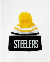 New Era Steelers Bobble Hat - Lyst