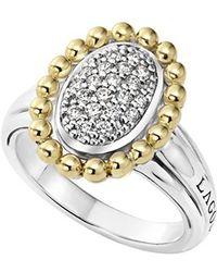 Lagos | Diamond Caviar Oval Ring | Lyst