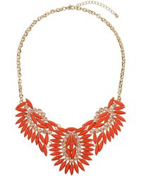 Topshop Orange Stone Collar - Lyst