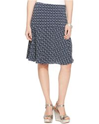 Lauren by Ralph Lauren Petite Fit & Flare Skirt - Lyst