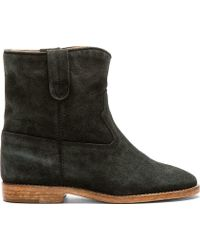 Isabel Marant Black Suede Crisi Boots - Lyst