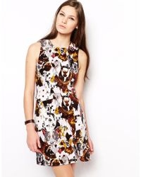 Antipodium Beagle Shift Dress In Hounds Of Love Print - Multicolor