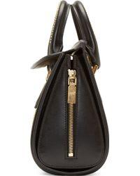 Alexander McQueen Black And Gold Studded Mini Heroine Bag - Lyst