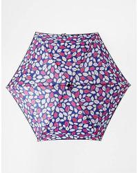 Lulu Guinness Tiny Pop Art Lips Blue Umbrella - Lyst