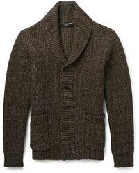 Dolce & Gabbana Virgin Wool Shawlcollar Cardigan - Lyst