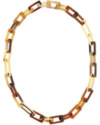 Maiyet - Horn And Gold-plated Medium Link Necklace - Lyst