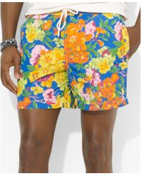 Ralph Lauren Polo Island Floralprint Swim Trunks - Lyst