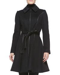 Dawn Levy Fergie Wool-blend A-line Coat - Lyst