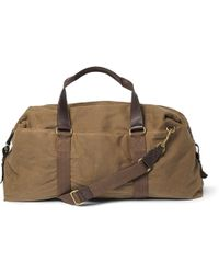 J.Crew | Abingdon Waxed Cotton-Canvas And Leather Holdall | Lyst