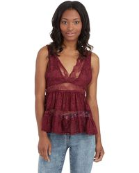 Free People Deepv Trapeze Cami - Lyst