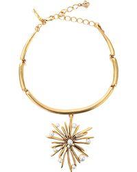 Oscar de la Renta Starburst Necklace white - Lyst