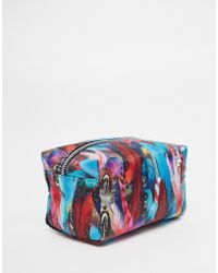 Jaded London - Feather Print Make-up Bag - Lyst