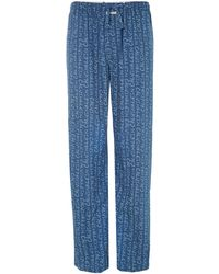 Calvin Klein Stripe Nightwear Pant - Lyst