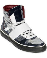 Antonio Marras Metallic Leather High Top Sneakers - Lyst