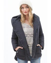 Forever 21 Hooded Puffer Jacket - Lyst