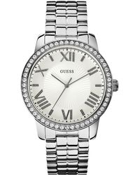 Guess - Ladies Silvertone Luxe Oversized Watch - Lyst