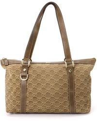 Gucci Suede Tote Bag - Lyst