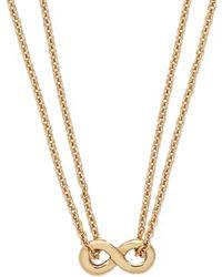 Kate Spade New York Gold-tone Mini Infinity Pendant Necklace - Lyst