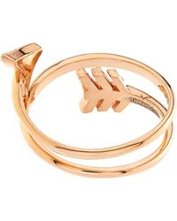 Aamaya By Priyanka - Topaz And Rose-Gold Plated Arrow Twist Ring - Lyst