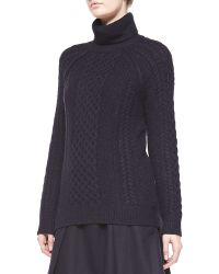 Vince Cable Knit Turtleneck Sweater - Lyst