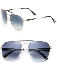 Tom Ford Edward 58mm Aviator Sunglasses - Lyst