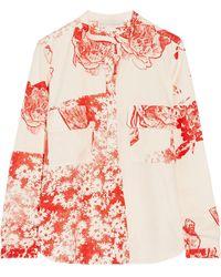 Stella McCartney Estelle Printed Silk Shirt - Lyst