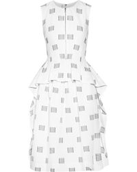Lela Rose Appliquã©D Cotton-Poplin Dress - Lyst