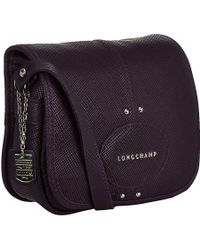 Longchamp Quadri Leather Satchel - Lyst