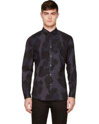 Diesel Blue and Black Camouflage S_uryan Shirt - Lyst