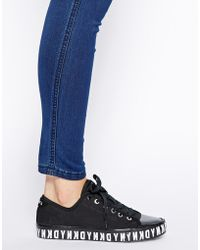 DKNY Active - Barbara Fine Canvas Logo Sole Trainers - Lyst