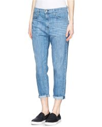 Current/Elliott 'The Slouchy Carrot' Whiskered Cropped Jeans - Lyst