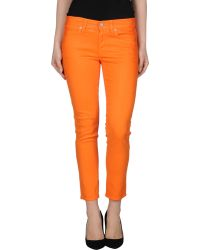 Ralph Lauren Denim Trousers orange - Lyst