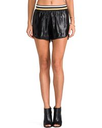 Clover Canyon Metallic Shorts in Black - Lyst