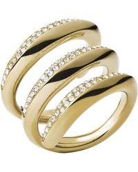 Michael Kors Winding Statement Ring - Lyst
