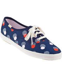 Kate Spade Kick Sneaker Navy Canvas - Lyst