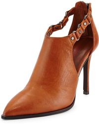 Luxury Rebel - Sadie Leather Cutout Bootie - Lyst