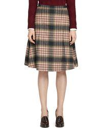 Brooks Brothers Wool Pleat Skirt - Lyst