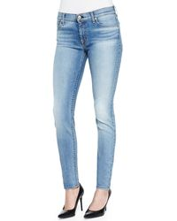 7 For All Mankind Slim Illusion Skinny Jeans W Contouring - Lyst