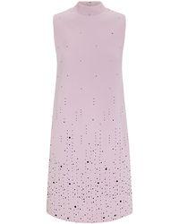 Christopher Kane Embellished Crepe Shift Dress - Lyst