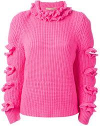 Christopher Kane Ruffle Detail Sweater - Lyst