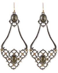 Alexis Bittar Elements Open-lace Teardrop Earrings - Lyst